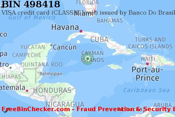 498418 VISA credit Cayman Islands KY BIN List