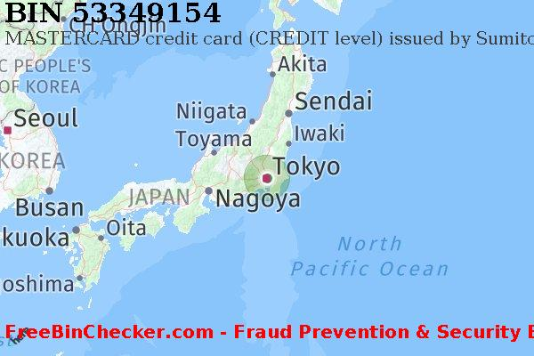 53349154 MASTERCARD credit Japan JP BIN List