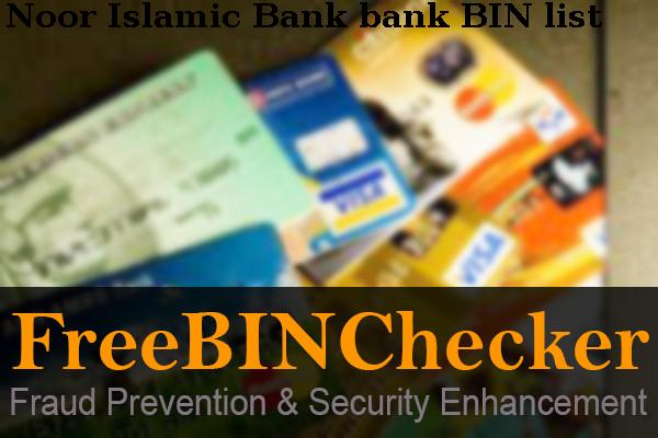 Noor Islamic Bank Bin List Check The Bank Identification Numbers By Noor Islamic Bank Financial Institution